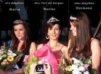 Election Miss Port des Barques 2012